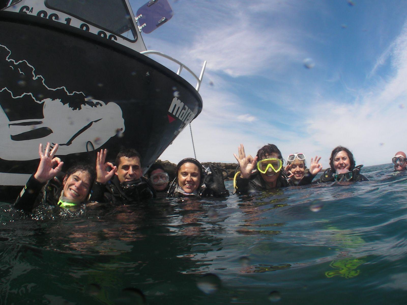 prácticas de mar de curso de buceo Buceo Navarra Hondarribia